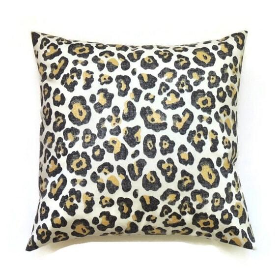 Leopard Pillow 18x18 Pillow Cover Decorative by ThePillowToss