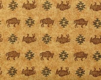 Buffalos on beige background