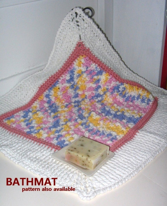 Crochet Bath Or Kitchen Rug Or Baby Mat To Lay On Or A Dog
