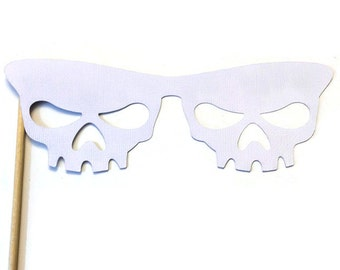 Halloween Photo Booth Prop - Skull Glasses Prop- Photo Booth