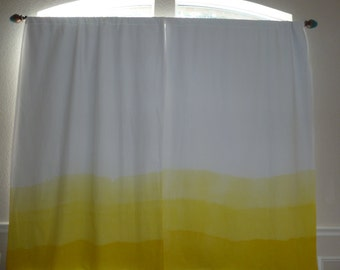 Ombre Dip Dye Canary Yellow Blackout Curtains For A