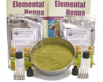 Mehndi Specialty Fundraiser Rajasthani Henna Powder Tattoo Kit for Charity School Events Festivals Parties