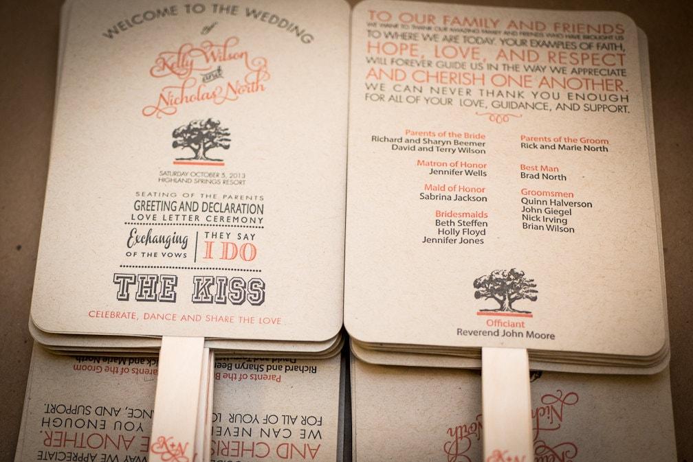 Wedding Program Fan Wedding Fan Order of Service Fan