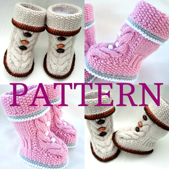 P A T T E R N Baby Booties Baby Shoes Pattern Knitted Baby