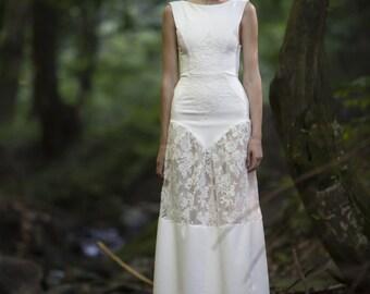 Long lace bohemian dress