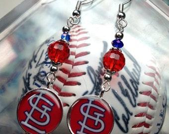 St. Louis Cardinal Sports Dangle Earrings