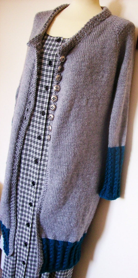 Knitting Pattern For A Long Cardigan : knitting pattern for a long-line cardigan