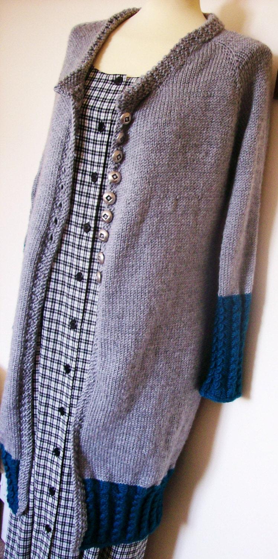 Knitting Pattern Long Dress : knitting pattern for a long-line cardigan