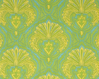 CLEARANCE IKAT Tangier by DENA Designs 1 Yard of Shell in Aqua Fabric