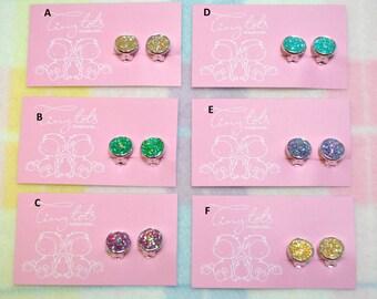 Girls clip on earrings - Sparkle