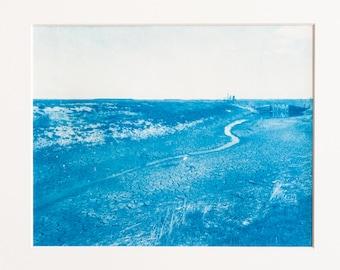 Blauwdruk oftewel cyanotype landscape