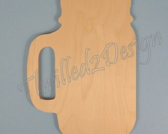 Mason Jar Shape - Wooden and Unpainted