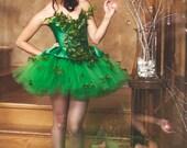Size Medium Poison Ivy Green Dress Costume Prom Dress