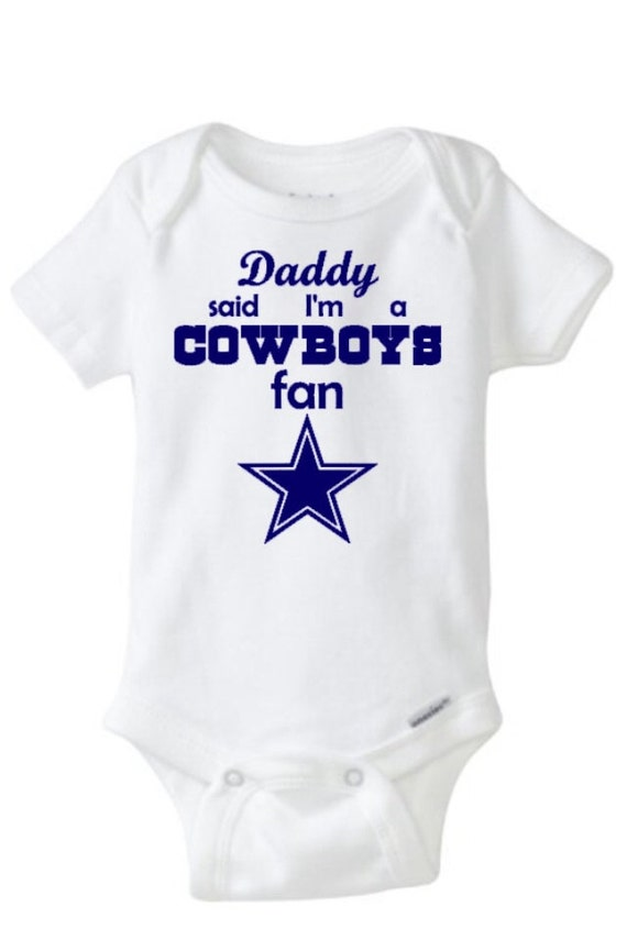 Dallas cowboys onesie or t shirt by madebylizi on etsy for Custom made shirts dallas