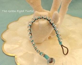 Turquoise and Rhinestone Friendship Bracelet