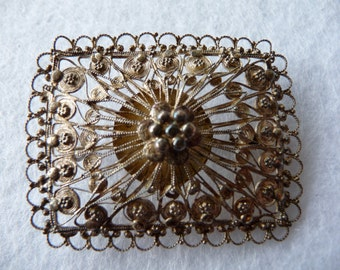 Old brooch - silver