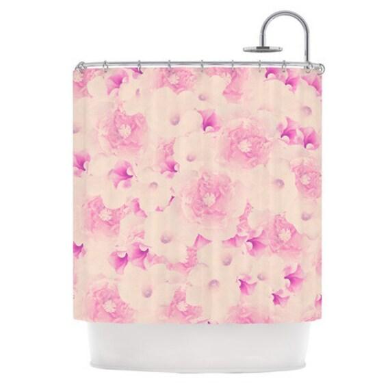 shower curtain deepti munshaw blush bouquet pink by