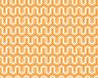Sweet Zig Zag Orange by Riley Blake - 1 yard