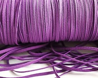 5 Yards Purple Skinny Elastic 1/8 inch Elastic - Purple- Skinny Elastic - Elastic by the yard - Thin Elastic - DIY - Headbands