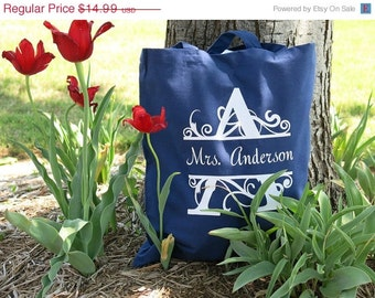 Monogrammed Gifts - Personalized Large Tote Bag