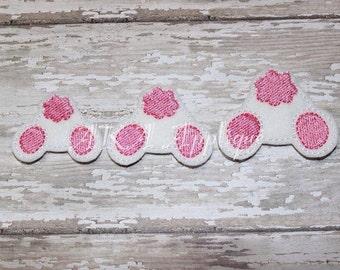 Buttercup Bunny Bum Feltie Embroidery Design