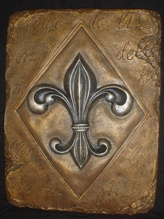 Fleur de lis wall plaque french art home decor for Fleur de lis home decorations