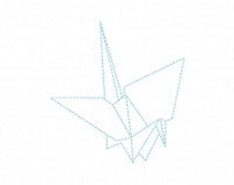 Origami Crane Machine Embroidery Design