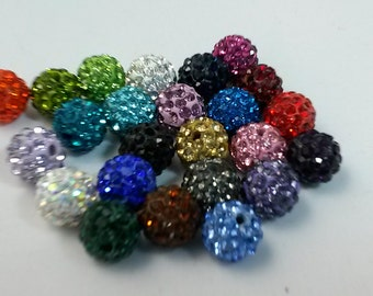 100  x 10mm mixed color   of shamballa beads samballa bracelet shamballa jewelry,