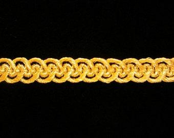 "660.1 Metallic gimp trim - ""Military Gimp"" - bright gold - 1/4"" (8mm)"