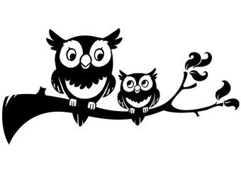 Cute Hoots Owls vinyl-ready vector art collection