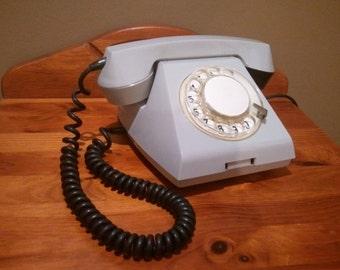 Light Gray Color CCCP Vintage Retro Rotary Dial Telephone