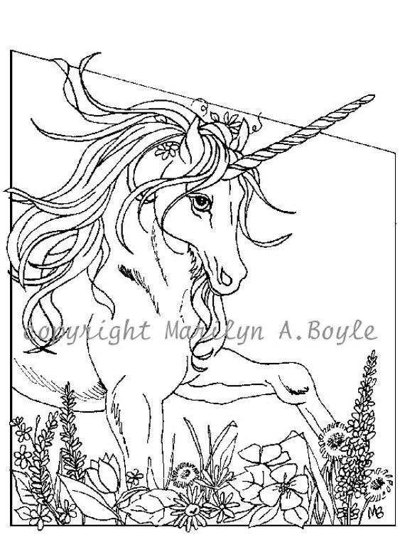 coloring pages unicorns rainbows flowers - photo#17