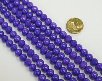 1 x 40cm x 8mm Glass Bead Strand beads #RV36