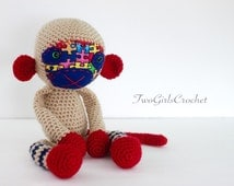 Crochet Monkey Amigurumi Toy (Andy) - Ready to Ship