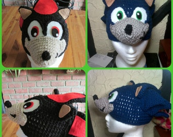 Sonic/Shadow the hedghog hat. Prices vary, please see full listing for details.