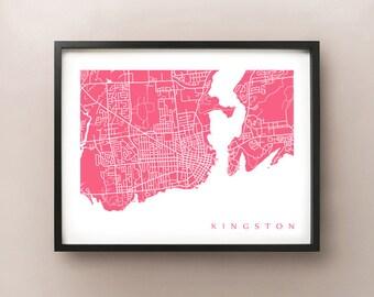 Kingston Map - Ontario poster art