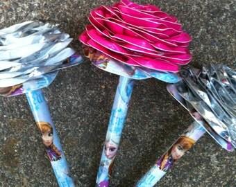 Anna & Elsa Pen Topper Duct Tape Flower (Choose 1)