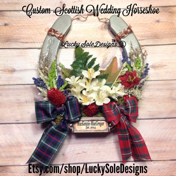 Scottish Wedding Gifts: Scottish Tartan Wedding Horseshoe Outlander Inspired Scottish