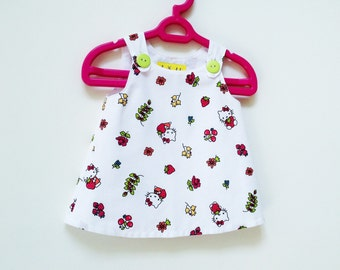 Hello Kitty Baby Girl Pinafore Style Dress