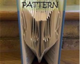 Book folding Pattern: FOX design (including instructions) – DIY gift – Papercraft Tutorial