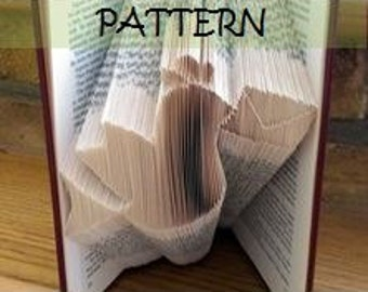 Book folding Pattern: DELIVERY BIRD design (including instructions) – DIY gift – Papercraft Tutorial