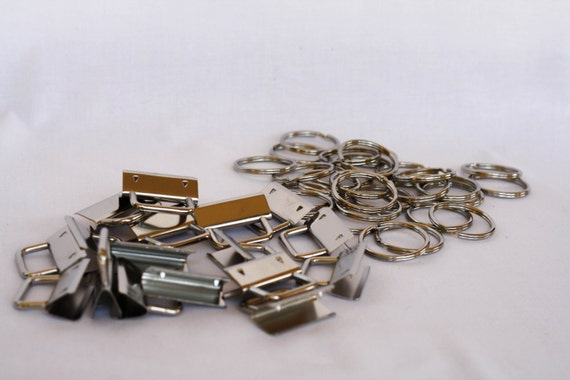 Basket Weaving Supplies Phoenix Az : Sets of inch nickel key fob hardware