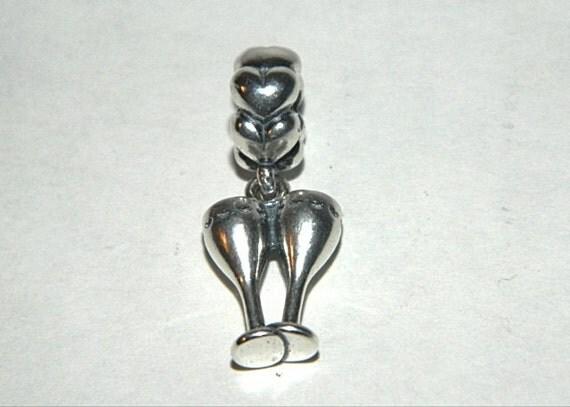 authentic pandora cheers wine glass bead charm by