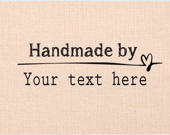 Handle Mounted Rubber Stamp flower created by, handmade by, created with love, custom text HC17