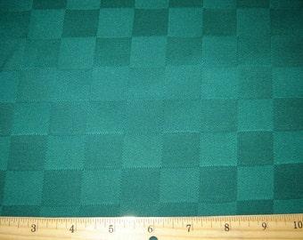 Per Yard, Jacquard Tablecloth Fabric Deep Green