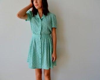 SALE: Mint Floral Dress