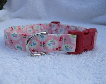 Cath Kidston Design Cherries and Flowers  Dog Collar