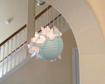 "6"" Angel Wings, paper lantern, butterfly decor, wedding lantern, butterfly lantern, nursery lantern, butterfly party, heaven sent  wedding"