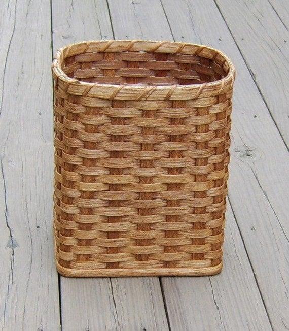 Handmade Small Baskets : Items similar to amish handmade small oval waste basket on