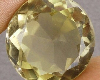 30.50 cts Natural Yellow Citrine  round cut. Natural Gemstone